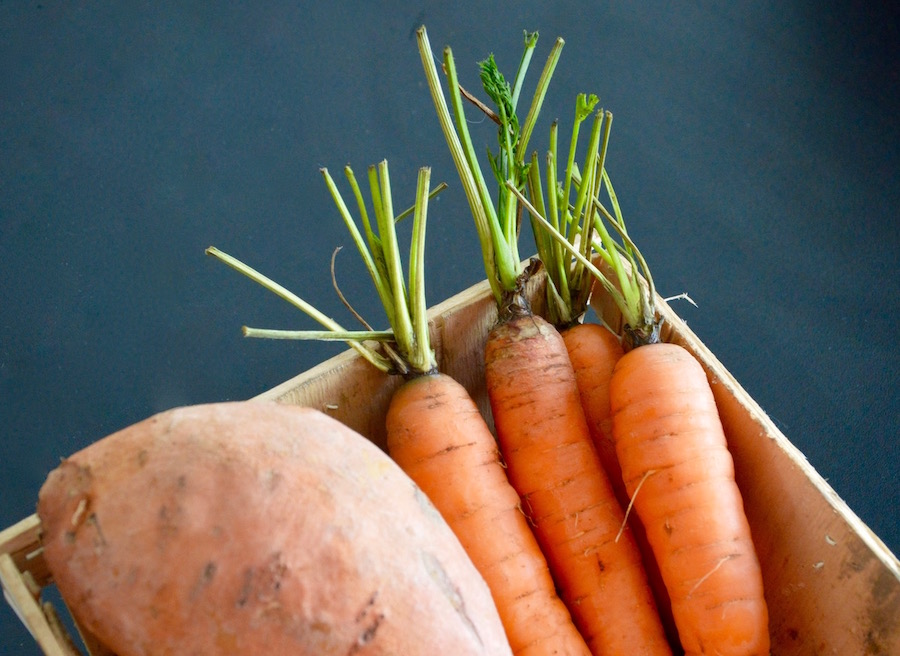 Carrot and sweet potato for babies