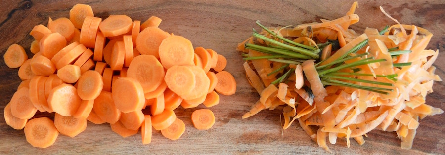 Carrot slices for babies