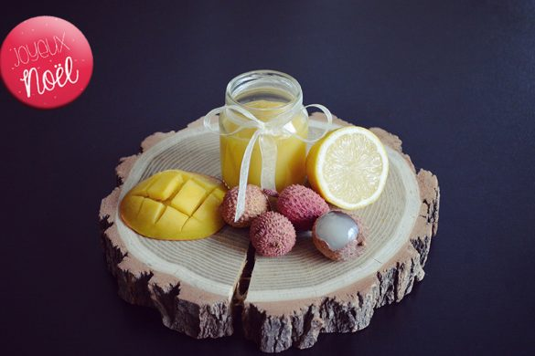 Baby Christmas recipe : Mango, lychee and lemon baby puree recipe (from 6 months)