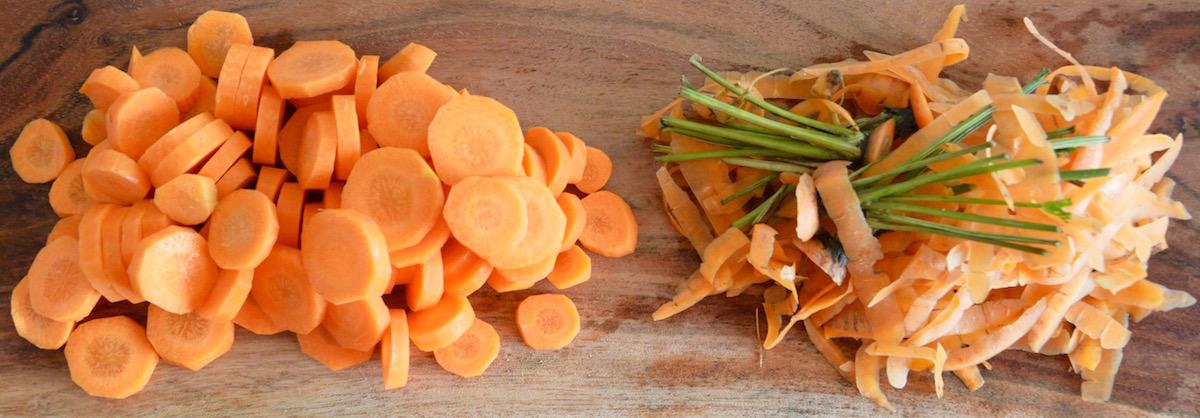 Rondelles de carottes pour bébé