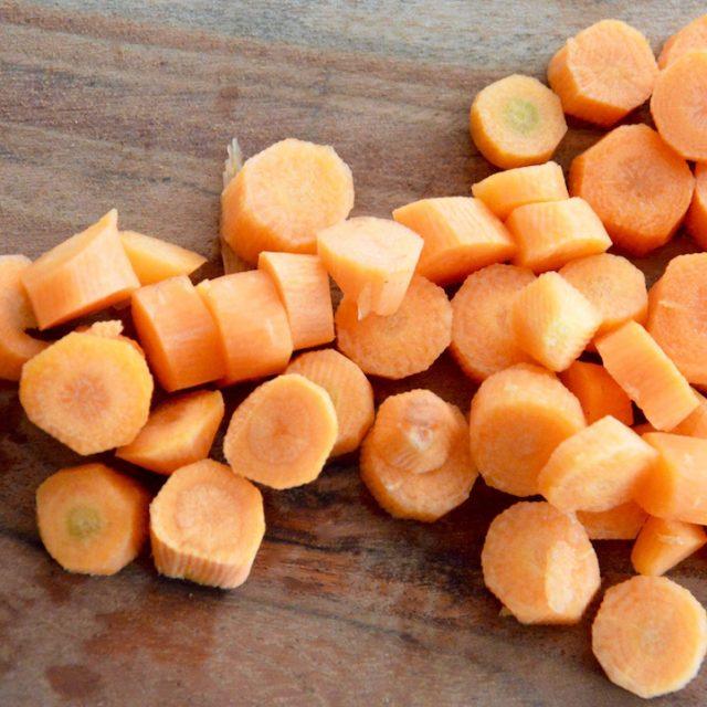 Rondelles de carotte pour bébé