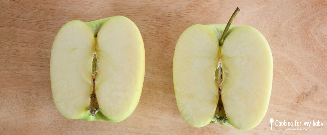 Pomme pour la compote de bébé