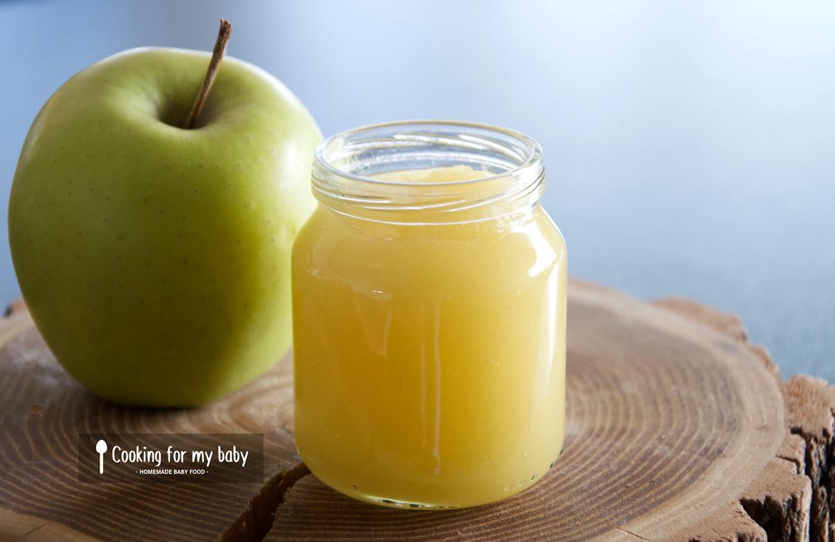 Recette de la première compote de pomme de bébé
