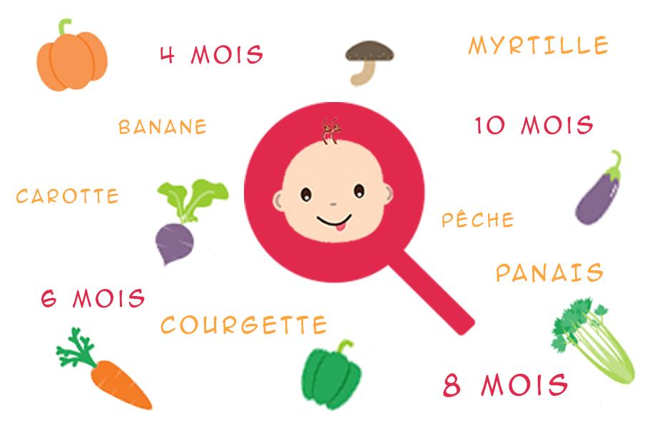Aliments pour bébé de 4 mois