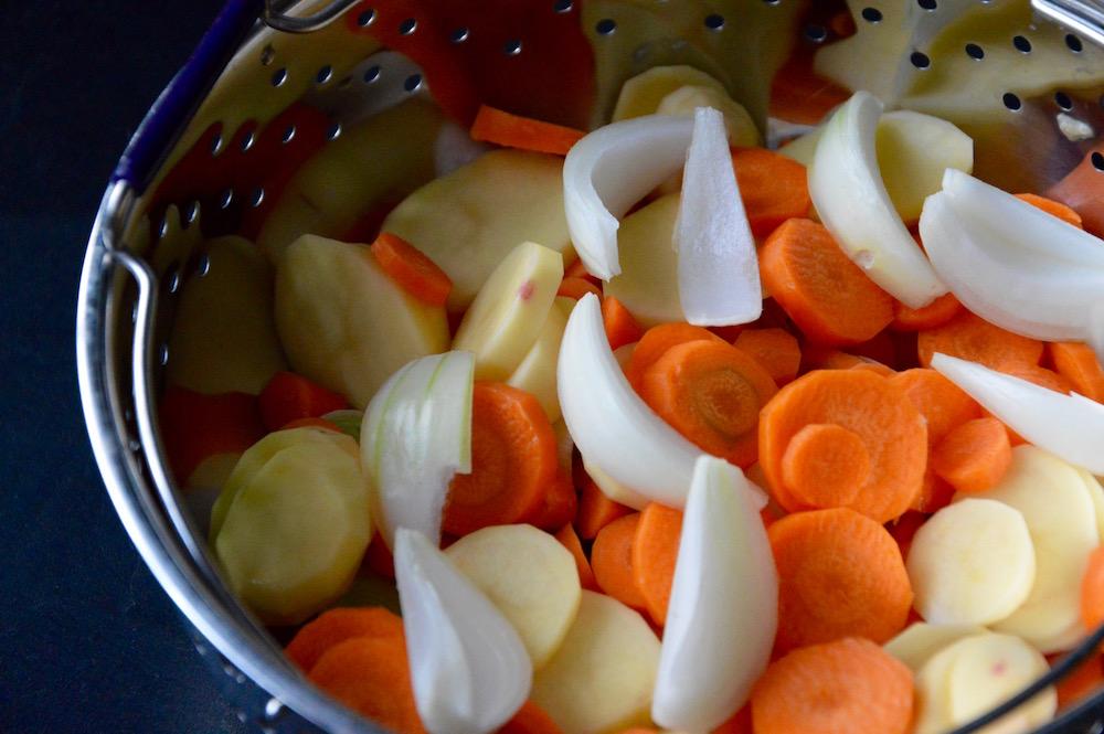 Morceaux de légumes pour bébé