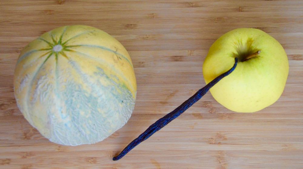 Melon pomme et vanille pour bébé