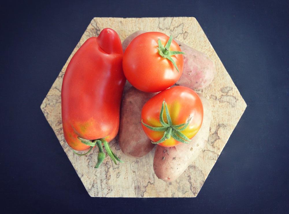 recette de pur e la tomate pomme de terre et jambon pour b b d s 6 mois cooking for my baby. Black Bedroom Furniture Sets. Home Design Ideas