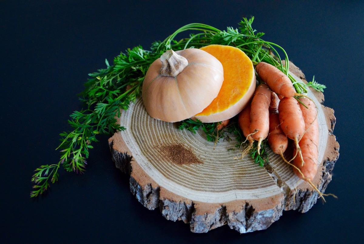Courge butternut carotte et cannelle pour bébé