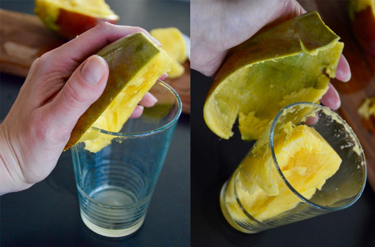 Éplucher une mangue pour bébé