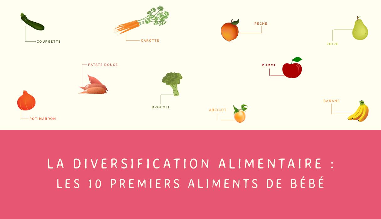 Avec quels fruits et légumes commencer la diversification alimentaire ?