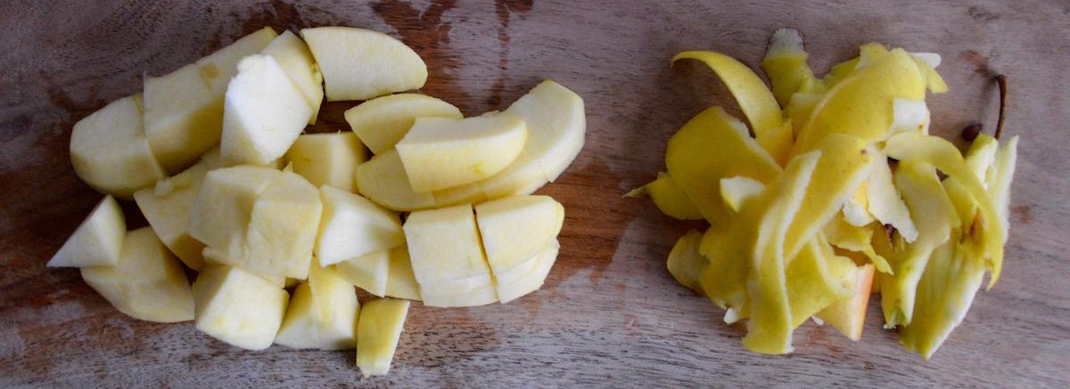 Morceaux de pomme pour bébé