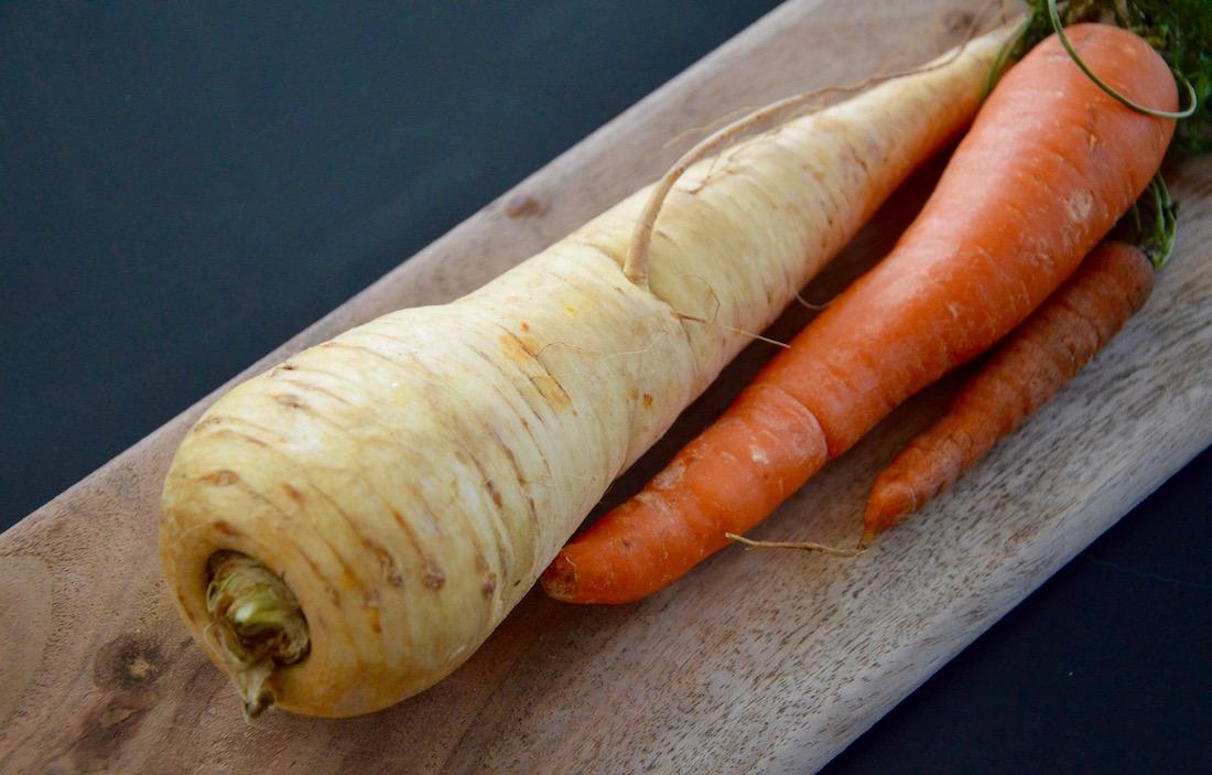 Panais et carotte pour bébé