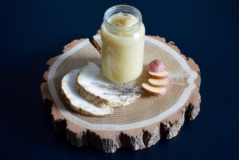 Purée de céleri rave pomme de terre et thym pour bébé
