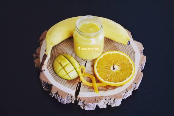 Recette de compote mangue orange banane pour bébé (Dès 6 mois)