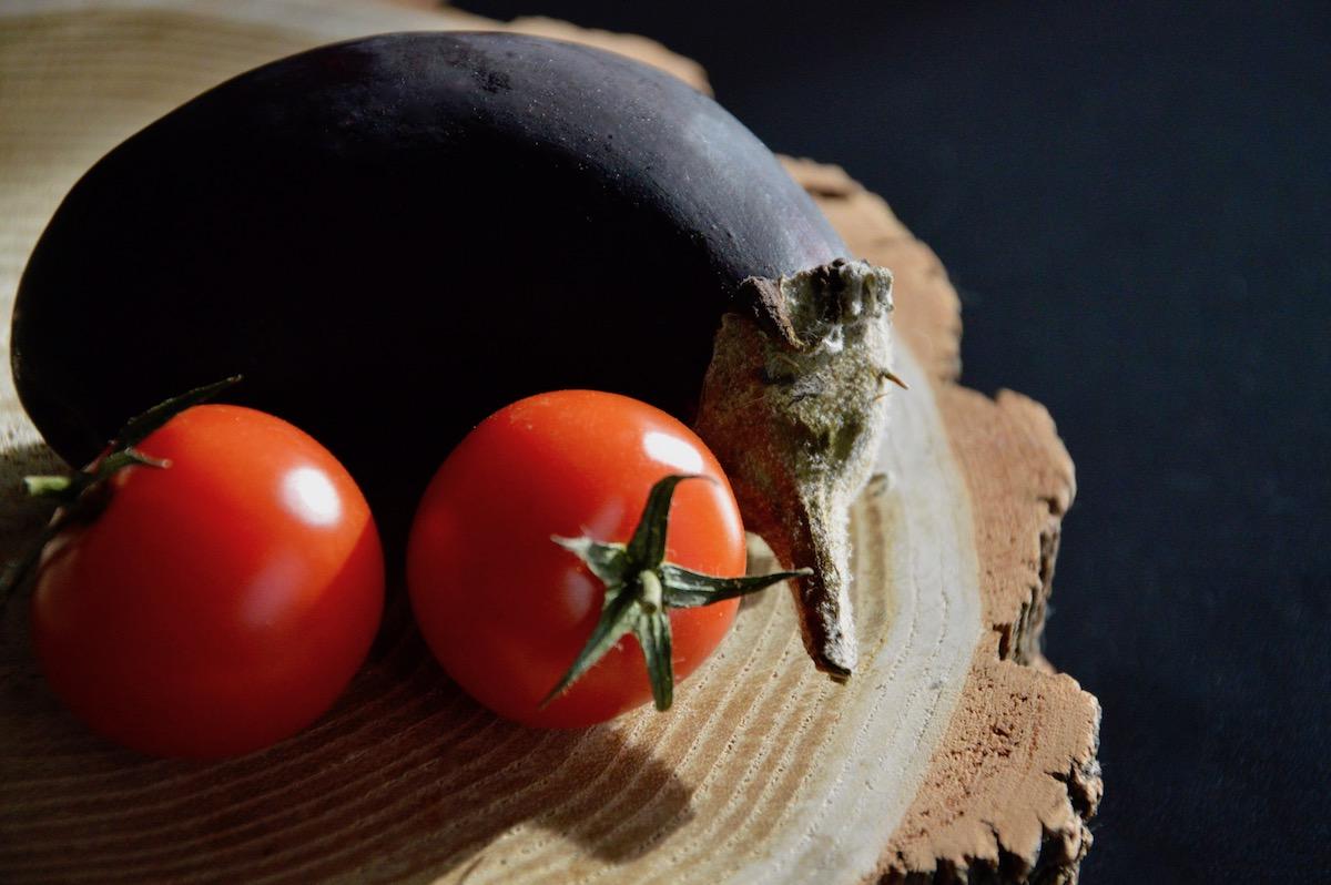 Aubergine et tomates pour bébé