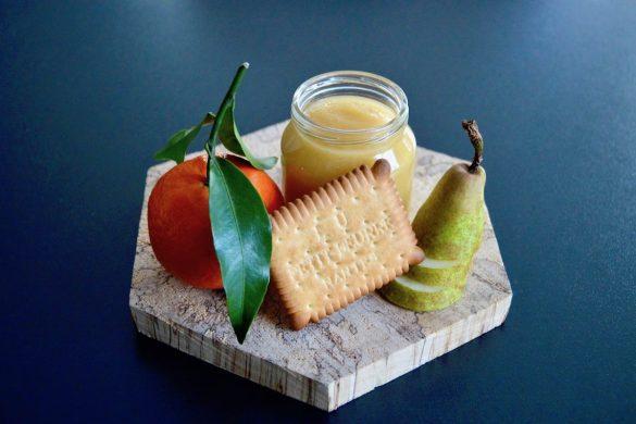 Compote clémentine poire et Petit-beurre pour bébé (Dès 6 mois)