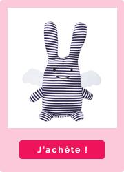 Lapin ange marinière Trousselier pour bébé
