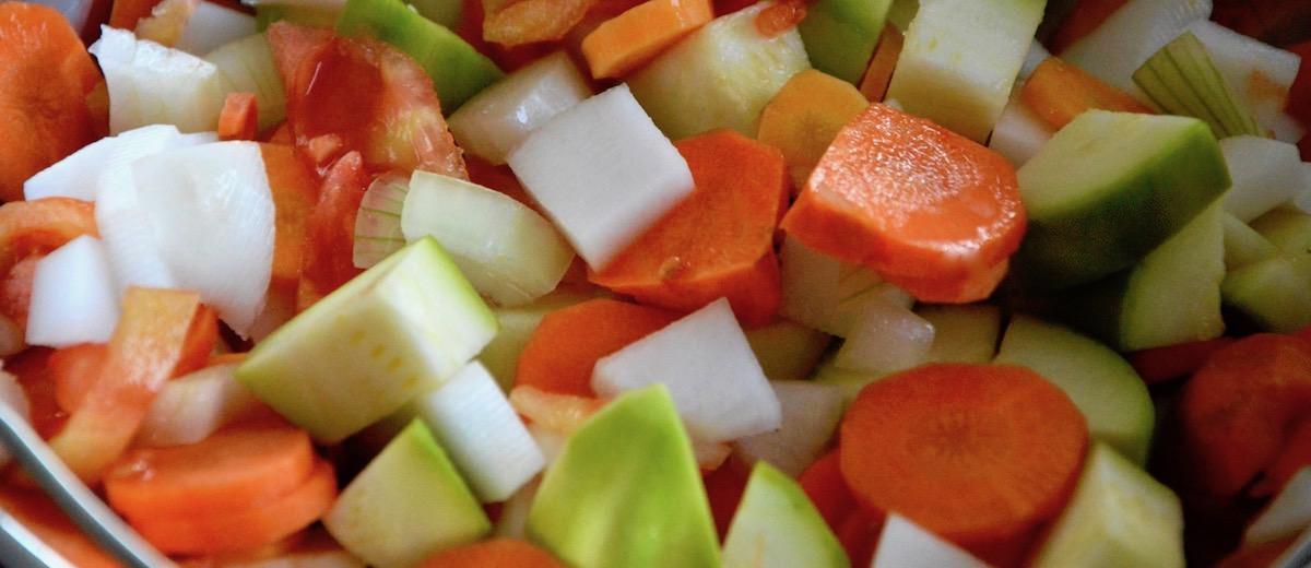 Légumes vapeur pour le couscous de bébé