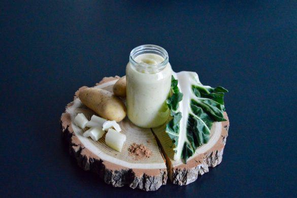 Mouliné de côtes de blettes (ou bettes) pomme de terre et crème muscade pour bébé (Dès 8 mois)