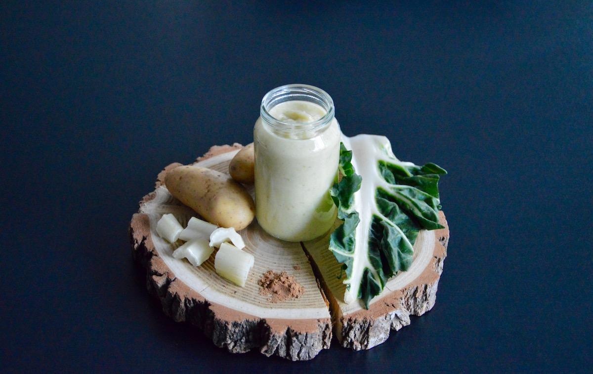 Mouliné de côtes de blettes pomme de terre crème de muscade (Dès 8 mois)