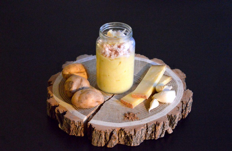 Recette de petit pot purée de pomme de terre poulet et fromage Comté pour bébé
