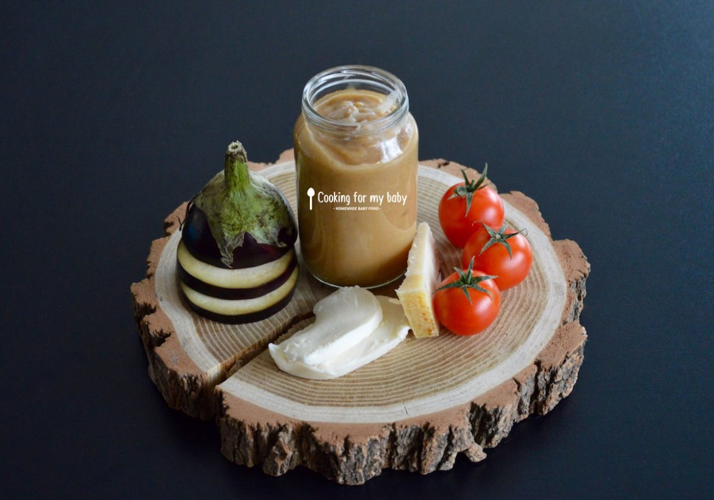 recette de pur e aubergine tomate mozzarella et parmesan pour b b d s 6 mois. Black Bedroom Furniture Sets. Home Design Ideas