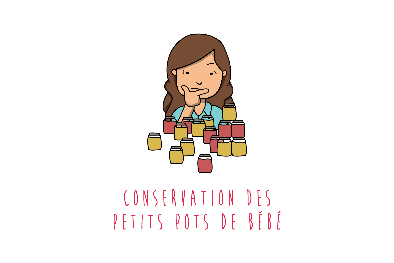 Conservation des petits pots de bébé : réfrigérateur, congélateur, matériel…