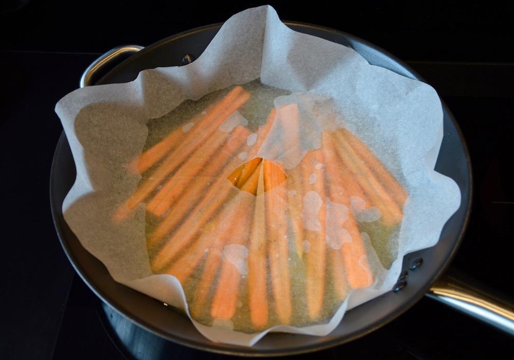 Cuisson carottes glacées à l'orange pour bébé
