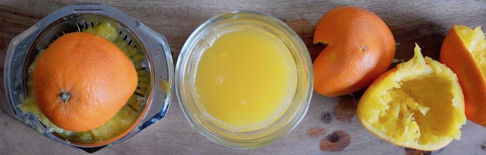 Jus d'orange pour bébé