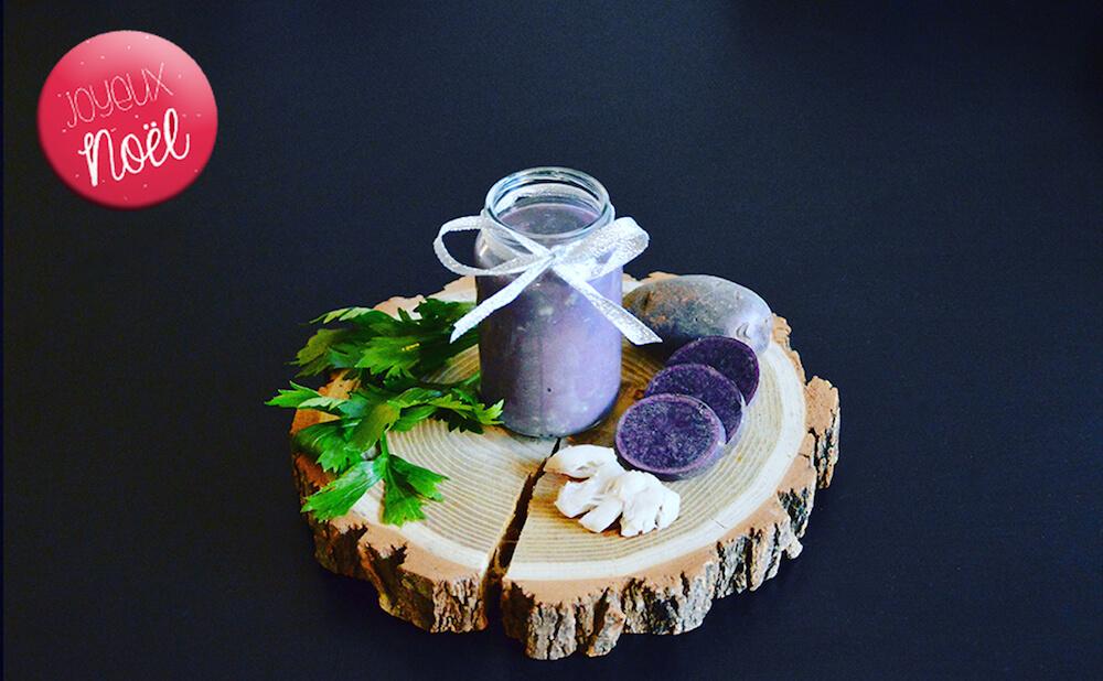 Recette de noël pour bébé n°2 : Joue de lotte purée de vitelotte et céleri branche (Dès 6 mois)