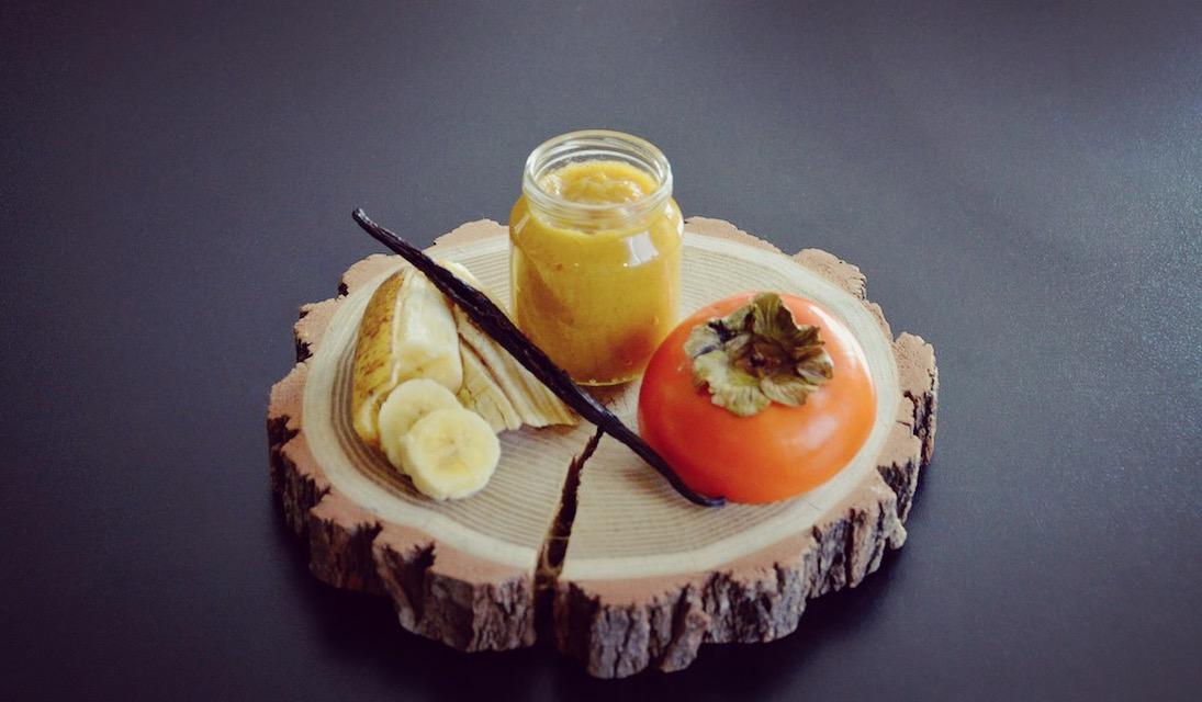 Compote de kaki banane et vanille pour bébé (Dès 12 mois)