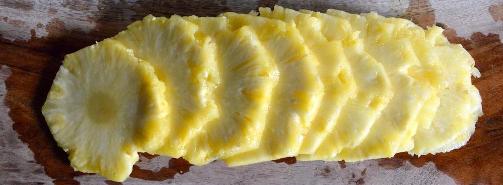 Rondelles d'ananas pour bébé