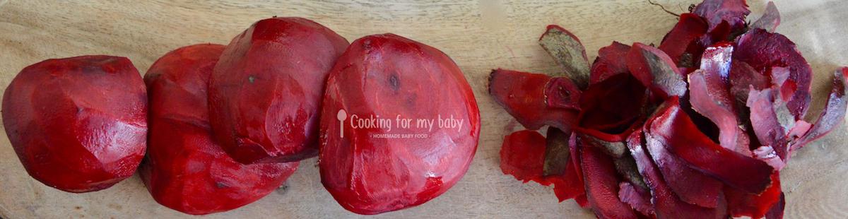 Betterave rouge pour bébé