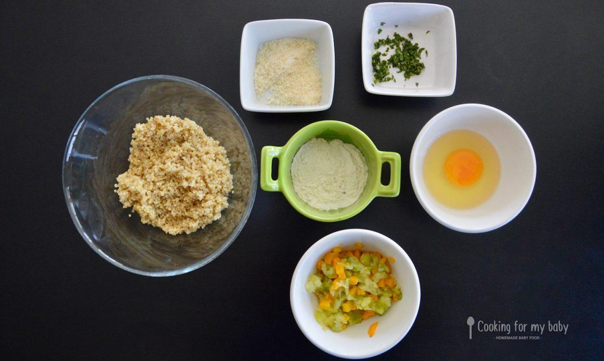 Ingrédients pour bâtonnets de quinoa pour bébé