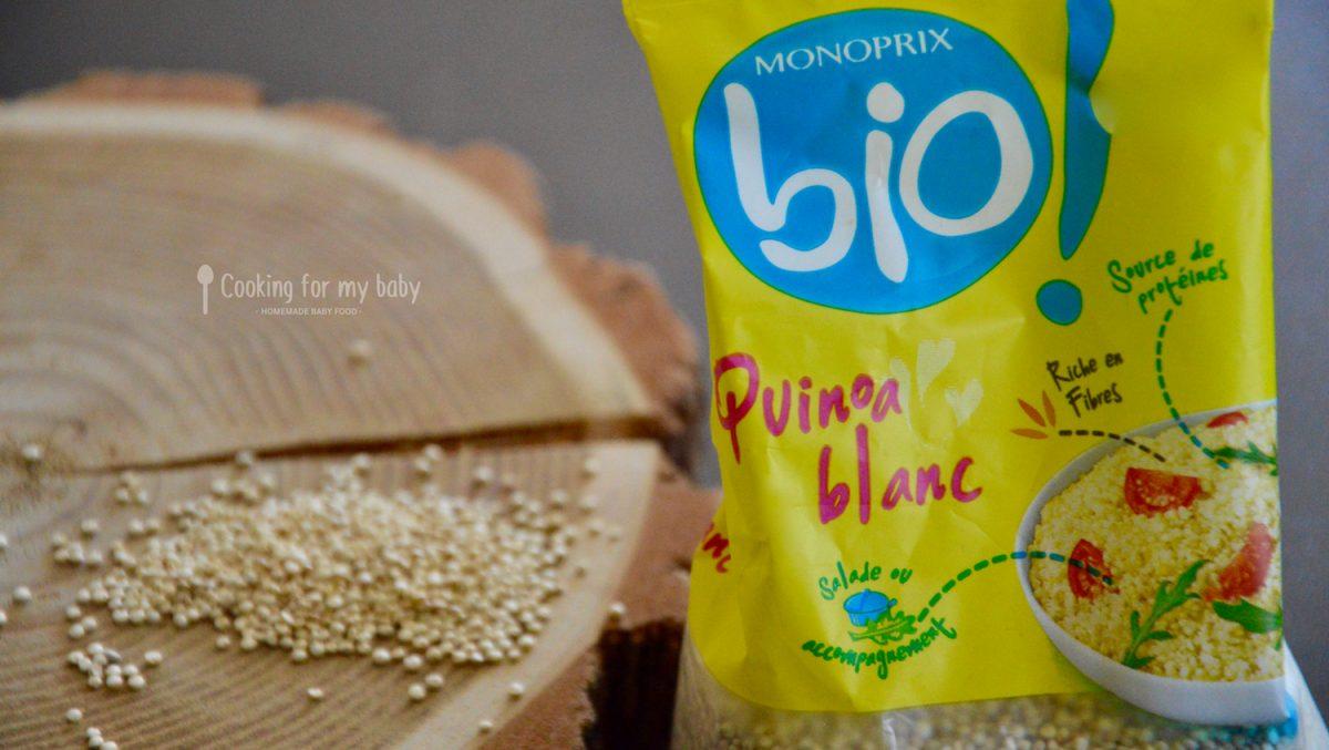 Quinoa bio de chez Monoprix pour bébé