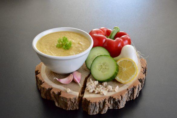 Recette de gaspacho de concombre poivron et pain complet pour bébé (Dès 8 mois)