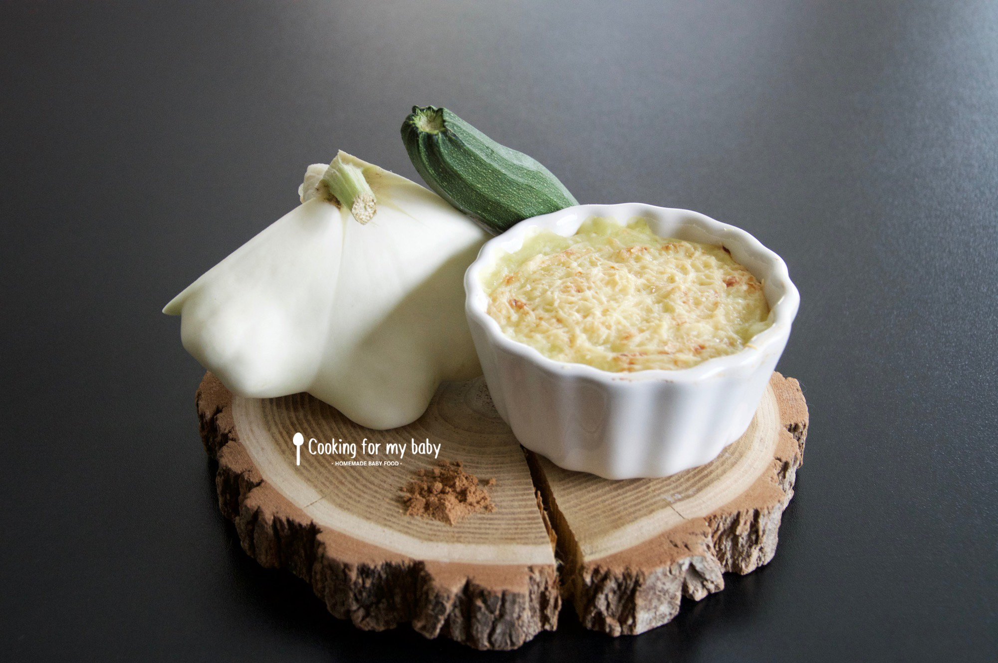recette de pur e de patisson courgette et pomme de terre gratin e l 39 emmental pour b b d s 10. Black Bedroom Furniture Sets. Home Design Ideas