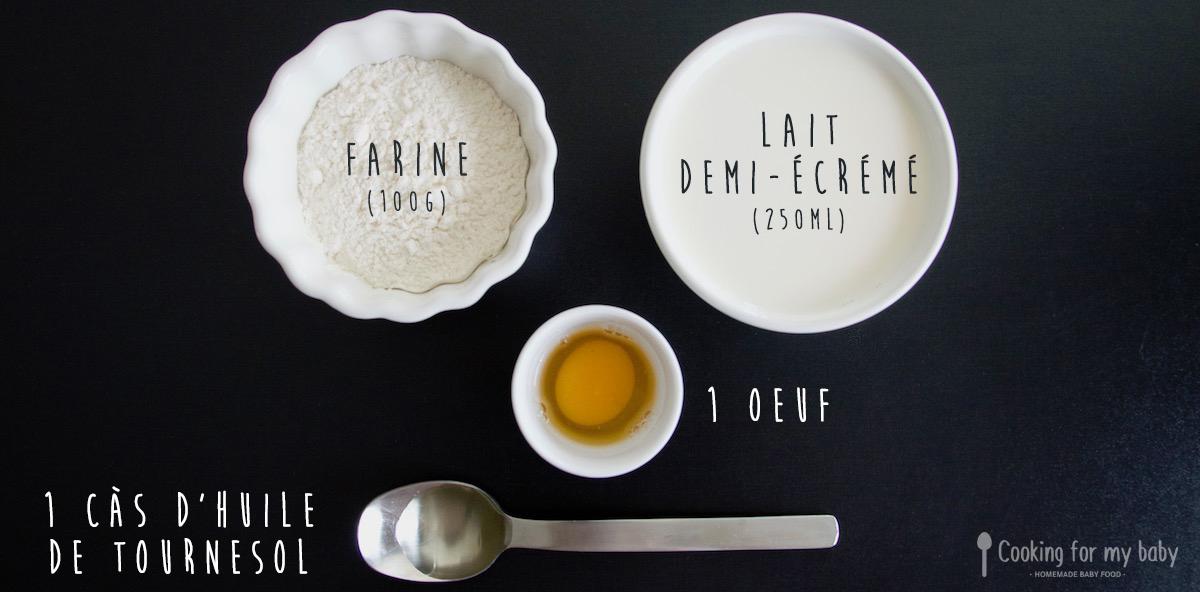 Recette de pâte à crêpe pour bébé