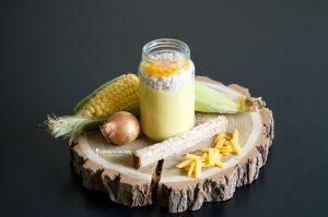 Recette de velouté de maïs et poulet au cheddar fondu pour bébé (Dès 8 mois)
