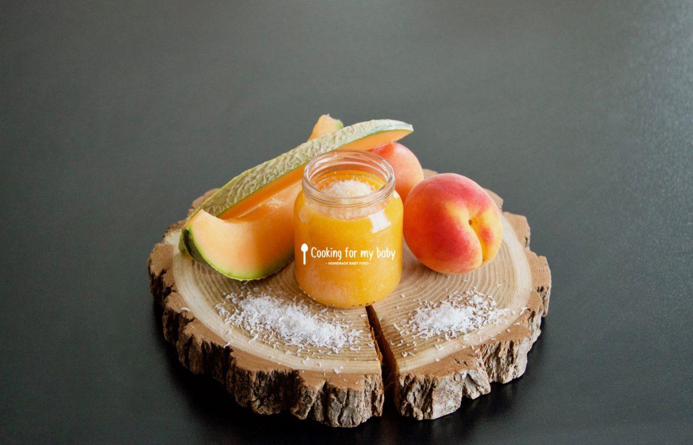 Recette de compote abricot - melon et pointe de noix de coco pour bébé (Dès 8 mois)