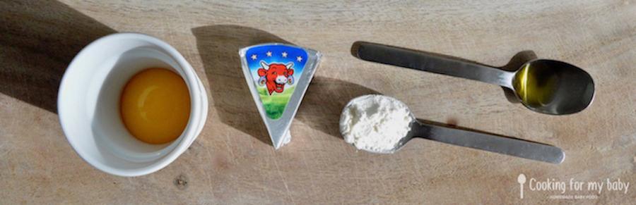Ingrédients pour boulettes pour bébé