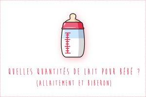 Quantités de lait pour bébé