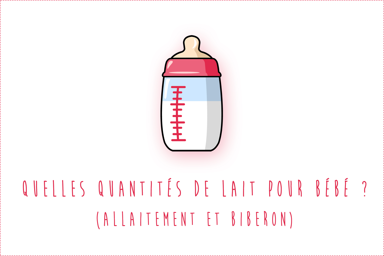 Quelles quantités de lait pour bébé (Allaitement et biberon) ? (Tableau)