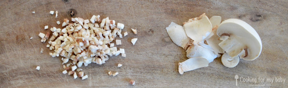Recette de risotto pour bébé : Champignon de Paris pour bébé