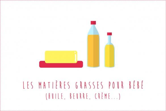 Matières grasses pour bébé : Huile, beurre, crème...