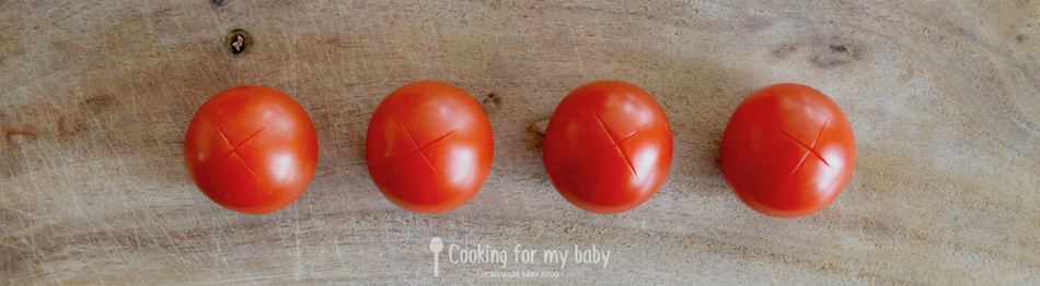 Recette pour bébé avec de la tomate