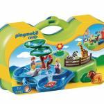 Cadeaux de Noel pour bebe des 18 mois - Playmobil jeu de construction zoo transportable et bassins