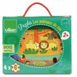 Cadeaux de Noel pour bebe des 24 mois - Vilac Puzzle des animaux du zoo