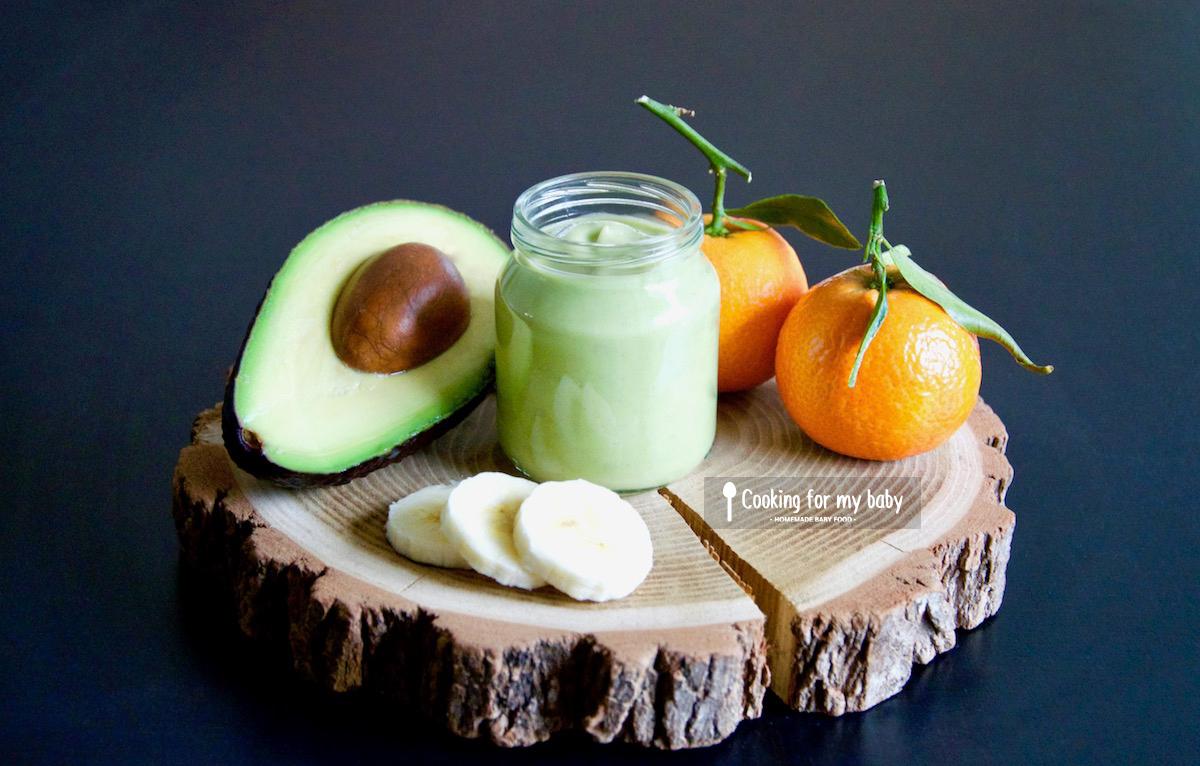 Recette de crème d'avocat, banane et jus de clémentine pour bébé (Dès 12 mois)