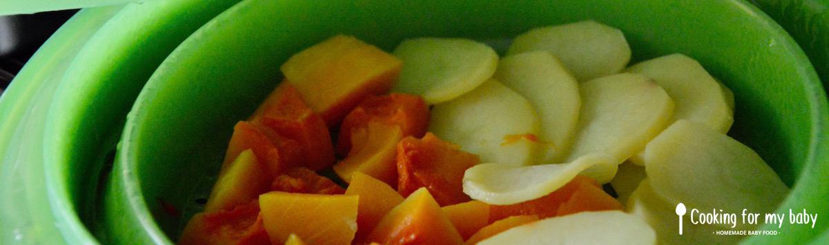 Cuisson légumes à la vapeur pour bébé